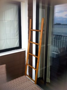 what appears to be a ladder on the balcony of my room