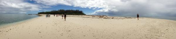 panoram of the coastline